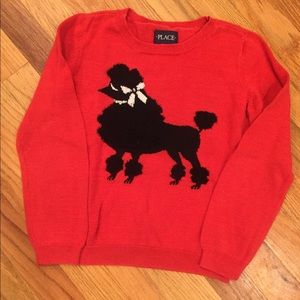 Children's Place | Red poodle sweater